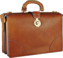 Signature Briefcase with Wooden Handle