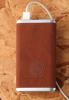 Ultra Slim Leather Power Bank