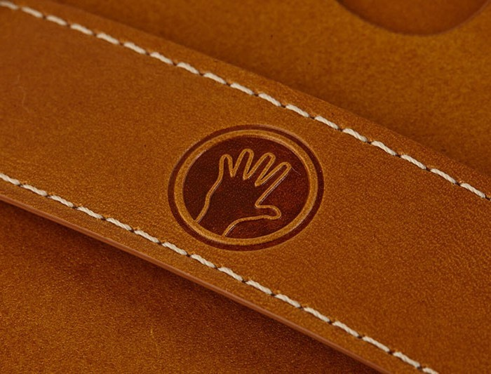 Tuscan Tan Magic Wallet detail My name is TED