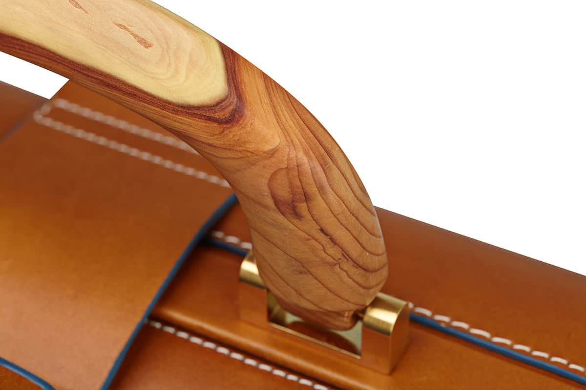 Signature Briefcase Backpack with wooden handle