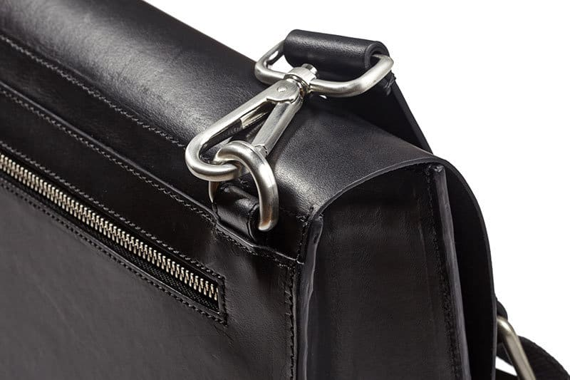 Contemporary Messenger Backpack, solid brass hardware