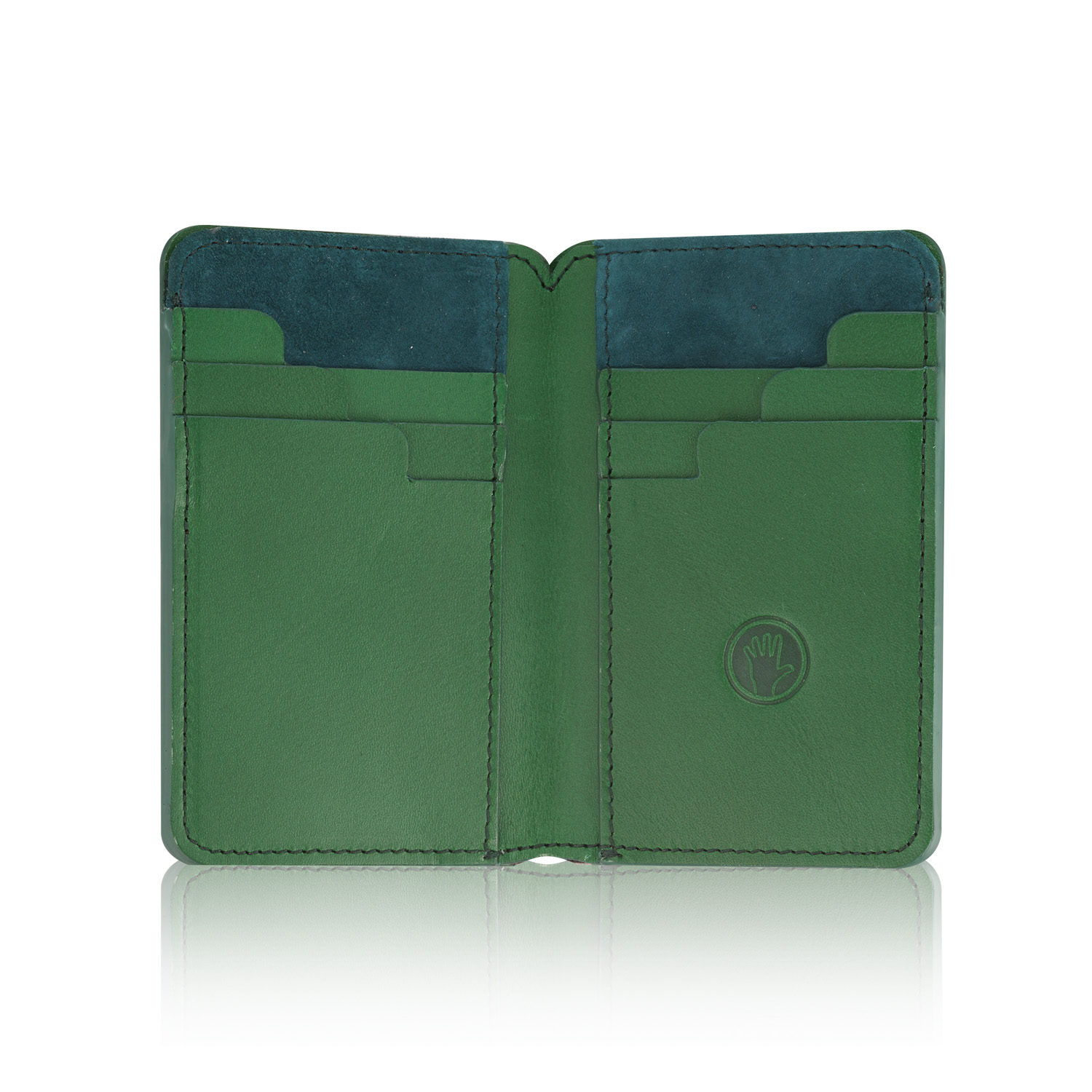 Emerald Stairway Wallet with Luxury Suede