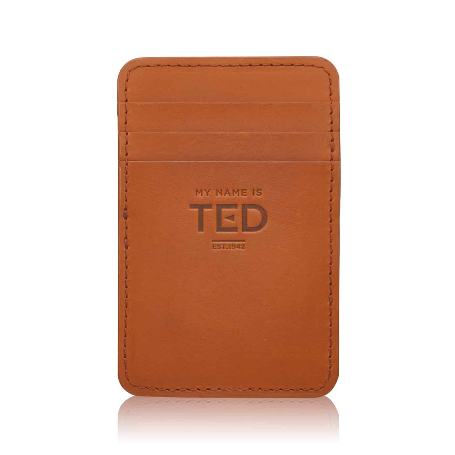 Vegetable Tanned Leather Artisan Luxury from Tuscany Business Card Wallet