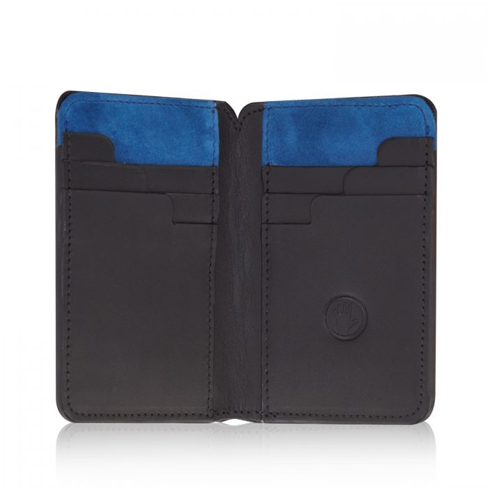 Stairway Billfold Wallet with Luxury Blue Suede