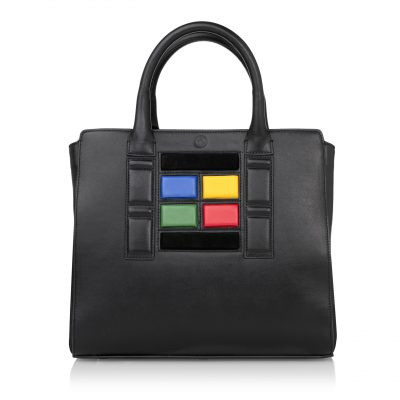My Name is TED Door Tote with color pannels